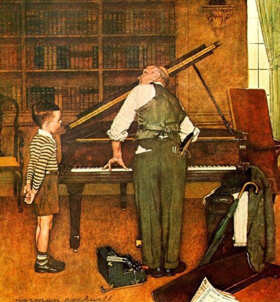 Норман Роквелл, «Настройка фортепьяно»