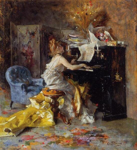 Джованни Больдини, «Женщина за фортепиано»