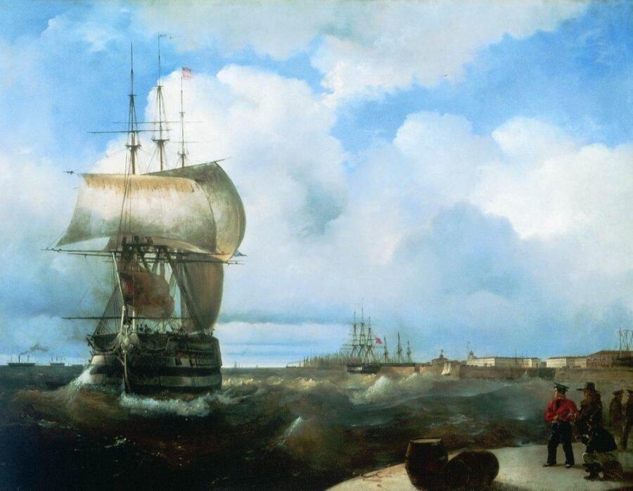 К. И. Айвазовский, «Большой рейд в Кронштадте», 1836 г.