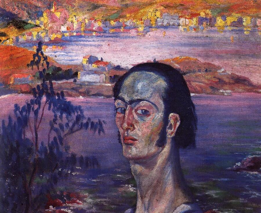 Сальвадор Дали, «Автопортрет с рафаэлевской шеей», 1921 г.