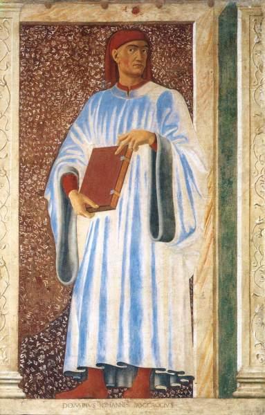 Андреа дель Кастаньо, «Джованни Боккаччо», фреска на вилле Кардуччо, ок. 1450 г