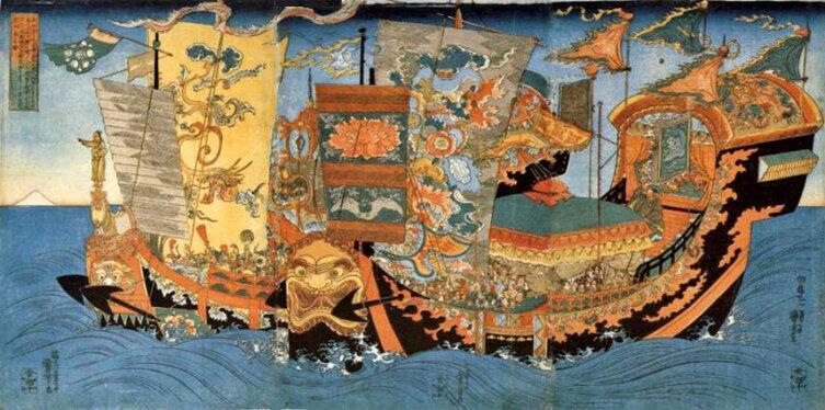 Утагава Куниёси, «Экспедиции Сюй Фу в поисках бессмертия»