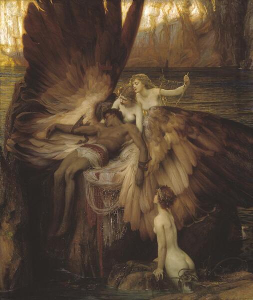 Герберт Дрейпер, «Оплакивание Икара», 1898 г.