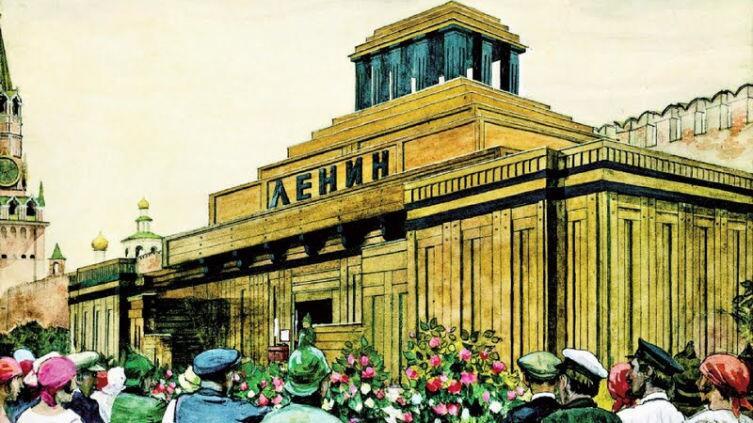 И. И. Бродский, «У мавзолея Ленина», 1924 г.