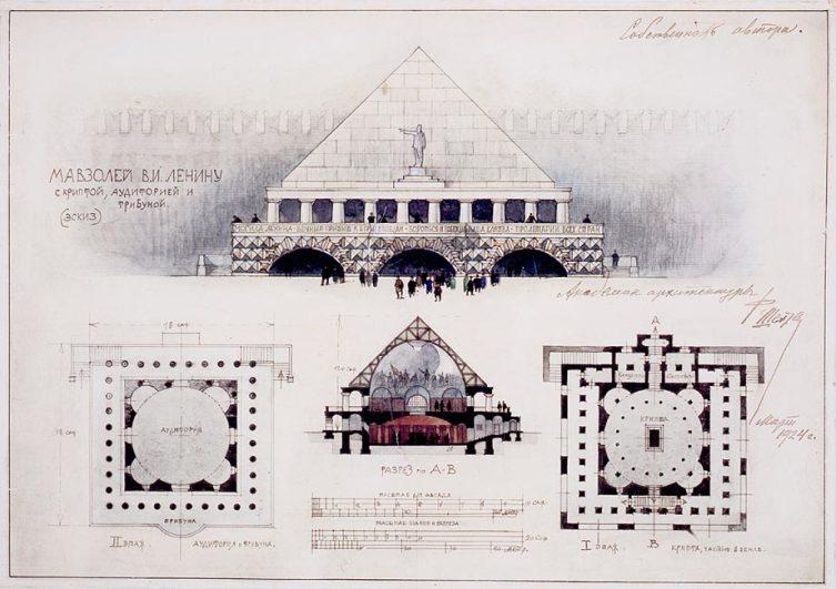 Проект Мавзолея Ленина, 1924 год