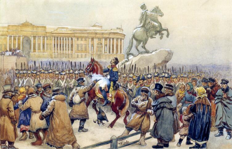 В. Г. Перов, «Восстание декабристов», 1870-е гг.
