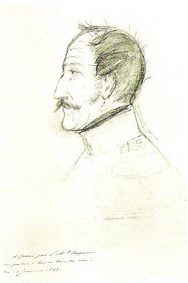 Автопортрет Николая I, 1843 год