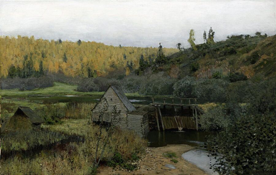 И. И. Левитан, «Осень. Мельница. Плёс», 1888 г.