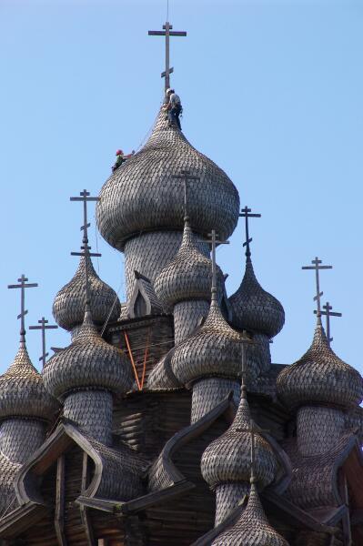Купола в Кижах