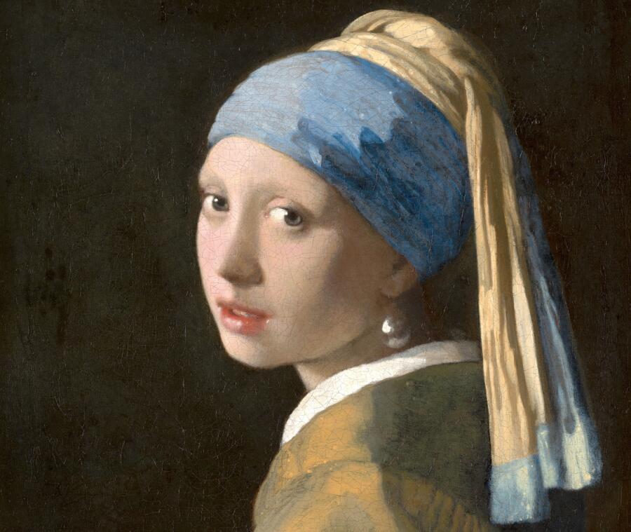 Ян Вермеер, «Девушка с жемчужной серёжкой», фрагмент, 1665 г.