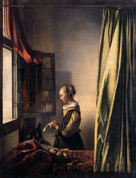 Ян Вермеер, «Девушка, читающая письмо у открытого окна», 1657—1659 гг.