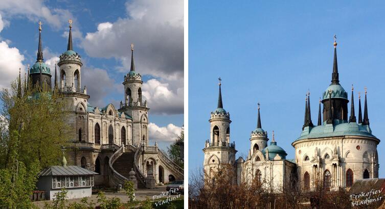 Владимирская церковь в Быково (Подмосковье, XVIII век), похожая на сказочный замок