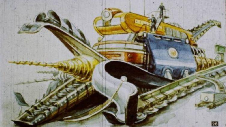 Землевик - скоростная бурильная машина на мезонной энергии в представлении людей ХХ века