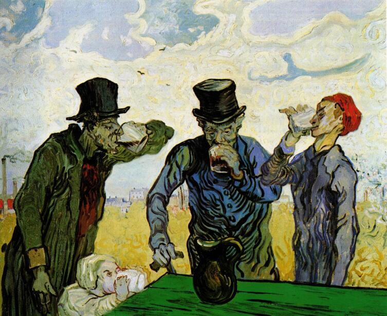 Винсент Ван Гог, «Пьяницы (по мотивам Домье)», 1890 г.