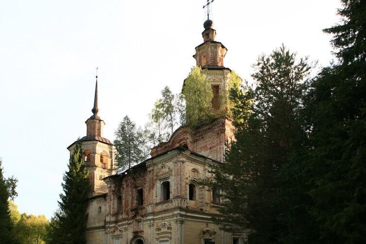 Церковь Покрова на Лузе (Кировская область). Труднодоступный храм, едва ли будет восстановлен
