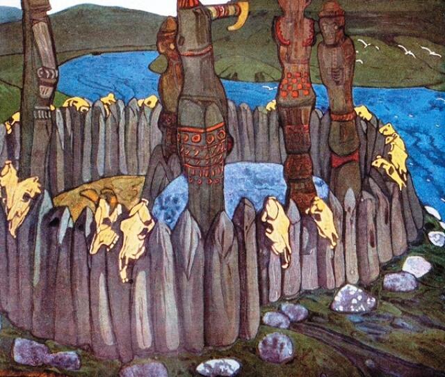Н. К. Рерих, «Идолы», 1901 г.Источник: artchive.ru