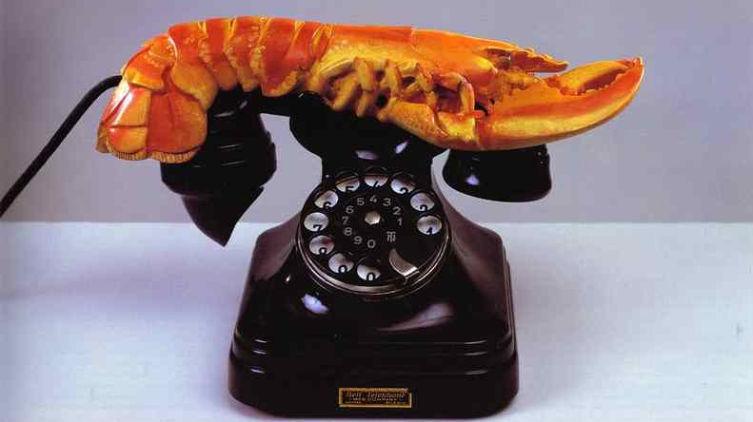 Сальвадор Дали, «Телефон-омар», 1938 г.