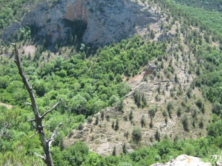 Вид на Чернореченский каньон сверху