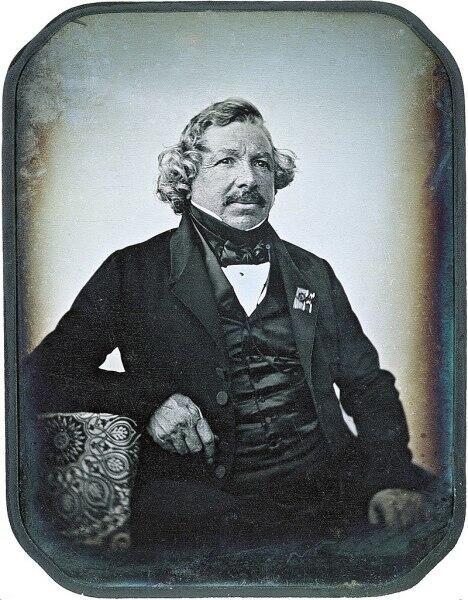 Дагеротипный портрет Луи Жак Манде Дагерра, 1844 год