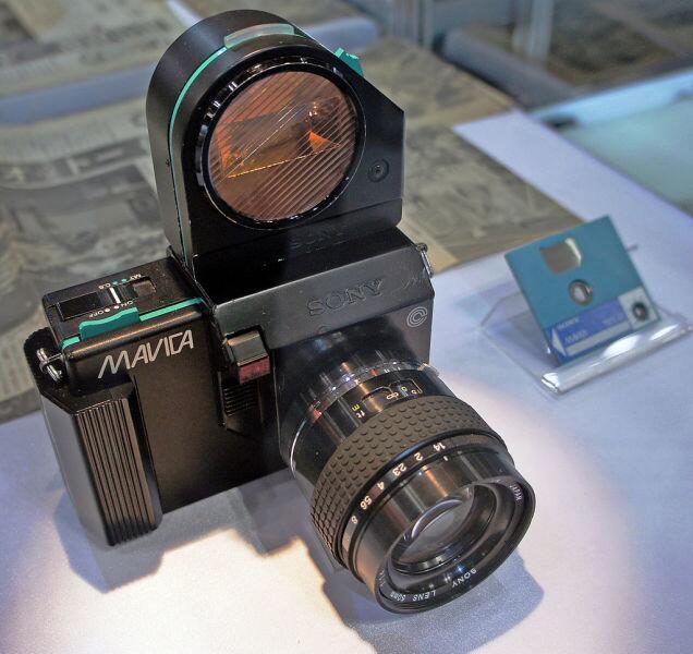 Прототип видеофотоаппарата «Sony Mavica». 1981 год