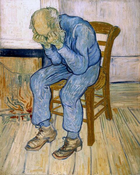 Винсент Ван Гог, «На пороге вечности», май 1890 г.