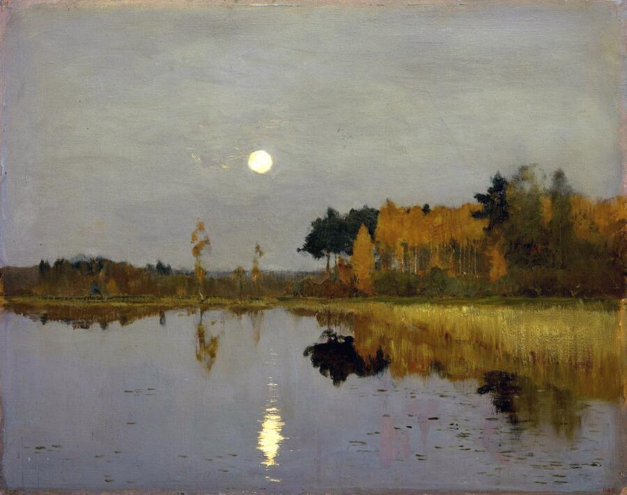 И. И. Левитан, «Сумерки. Луна», 1899 г.
