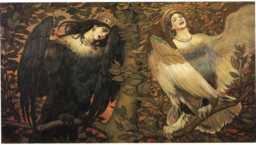 В. М. Васнецов, «Сирин и Алконост. Песнь радости и печали», 1896 г.