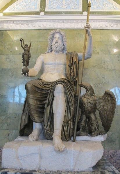 Юпитер. Мраморная статуя I века