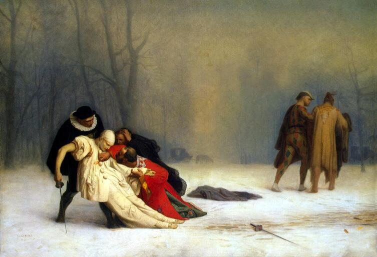 Жан-Леон Жером, «Дуэль после маскарада», 1857 г.