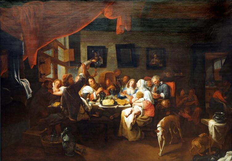 Давид Рейкарт, «Застолье», 1650 г.