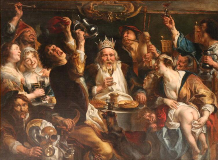 Якоб Йорданс, «Бобовый король», около 1638 г.