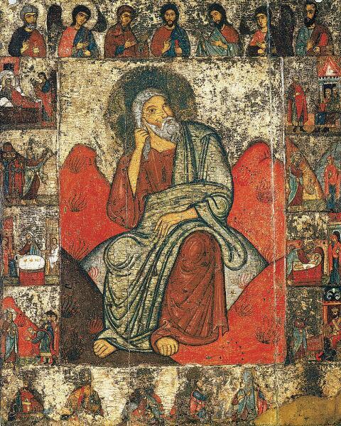 Илия пророк с житием и деисусом. Из церкви Ильи Пророка в погосте Выбуты, близ Пскова. Конец XIII в.
