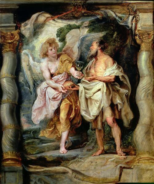 Питер Пауль Рубенс, «Пророк Илия и ангел в пустыне», 1628 г.