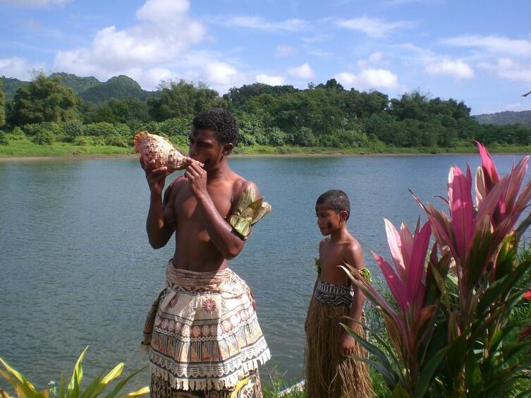 На острове Фиджи