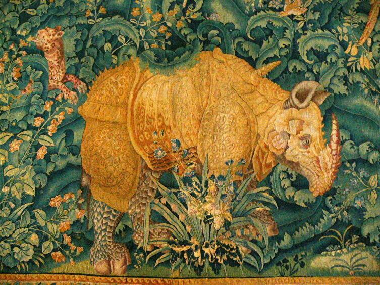 Фландрийская шпалера «Носорог», 1550 год