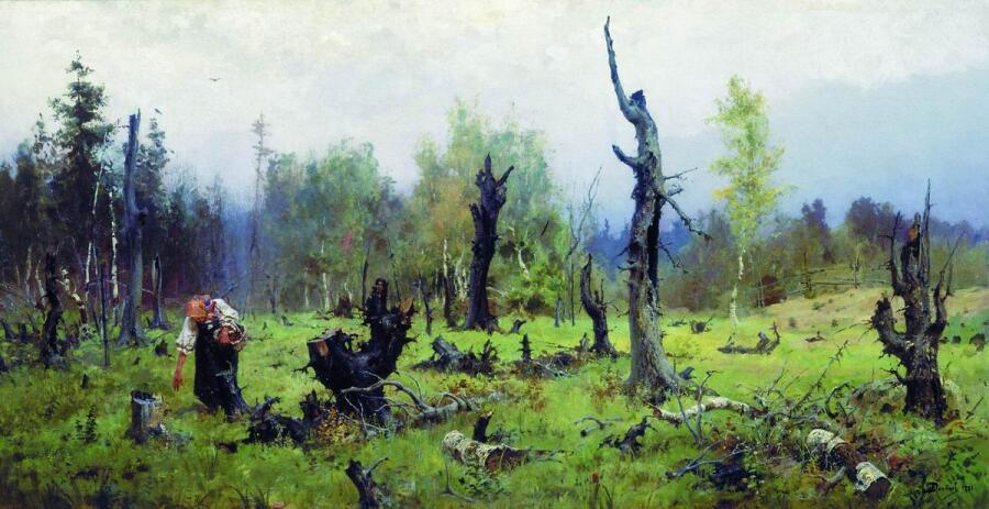 В. Д. Поленов, «Горелый лес», 1881 г.