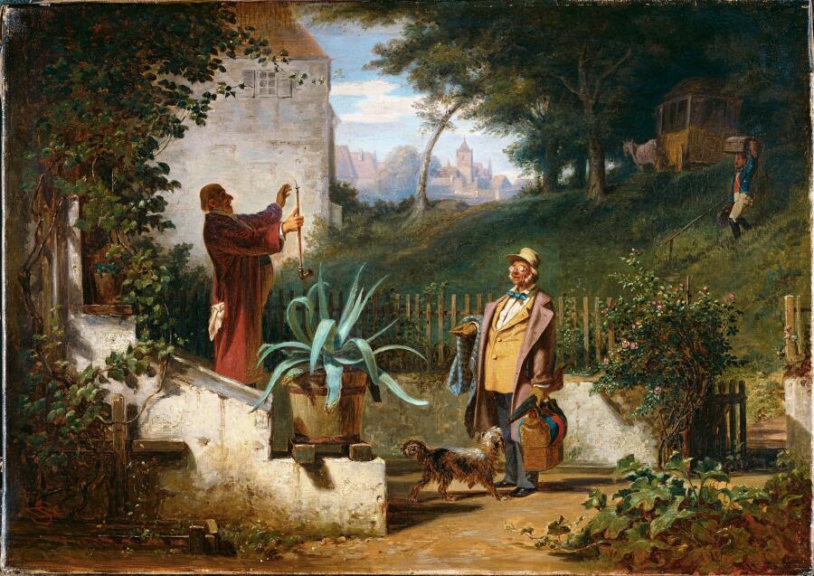Карл Шпицвег, «Друзья детства», 1855 г.