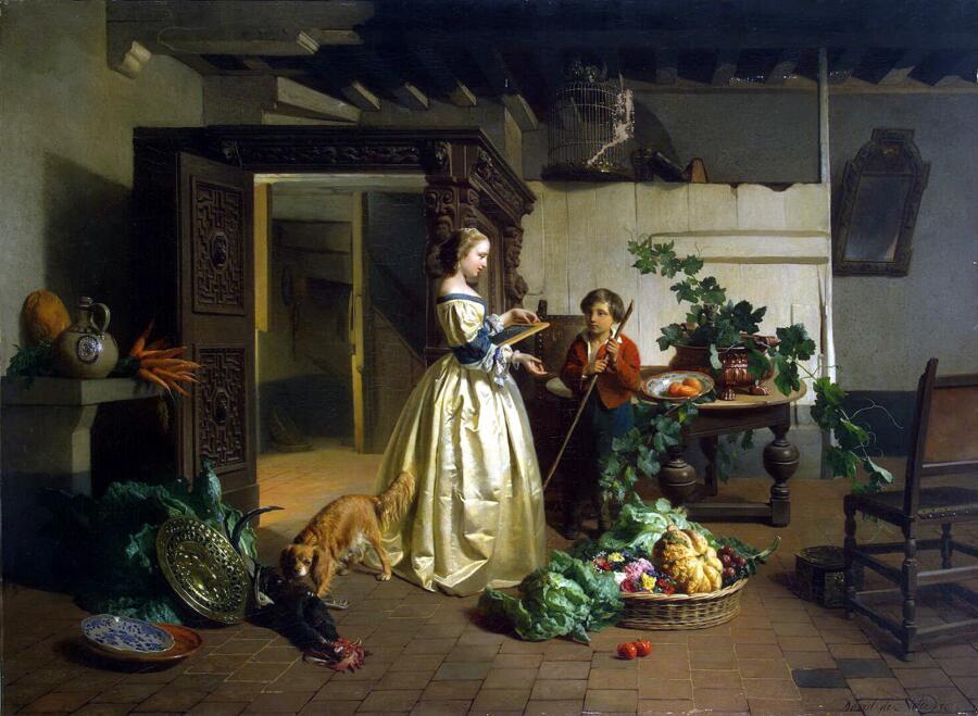 Давид Эмиль Жозеф де Нотер, «На кухне»