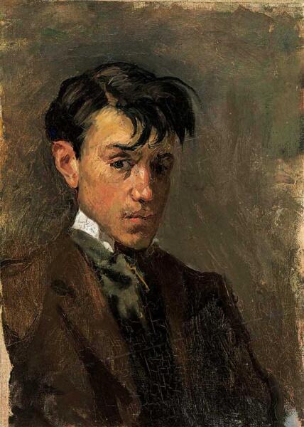 Пабло Пикассо, «Автопортрет», 1896 г.