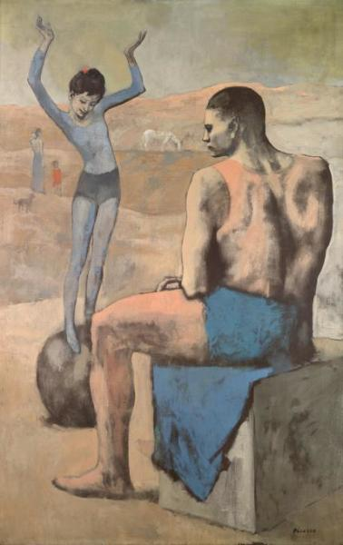 Пабло Пикассо, «Девочка на шаре», 1905 г.