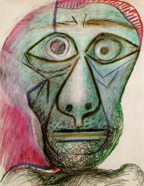 Пабло Пикассо, «Автопортрет. 30 июня 1972», 1972 г.