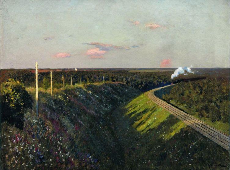 И. И. Левитан, «Поезд в пути», 1890-е гг.