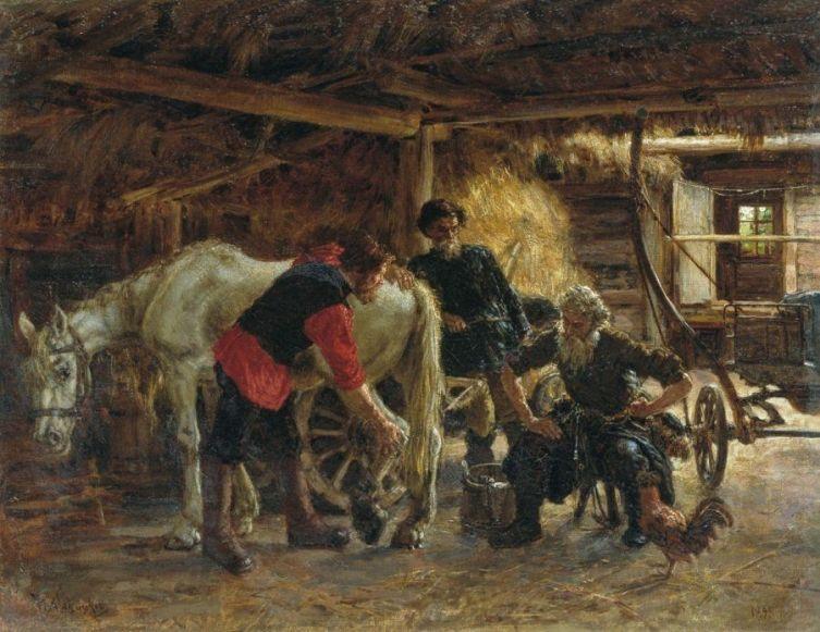 Бедняки ставили простые подковы, а вот лошадь богатого барина быстро бегала и могла потерять дорогую подкову