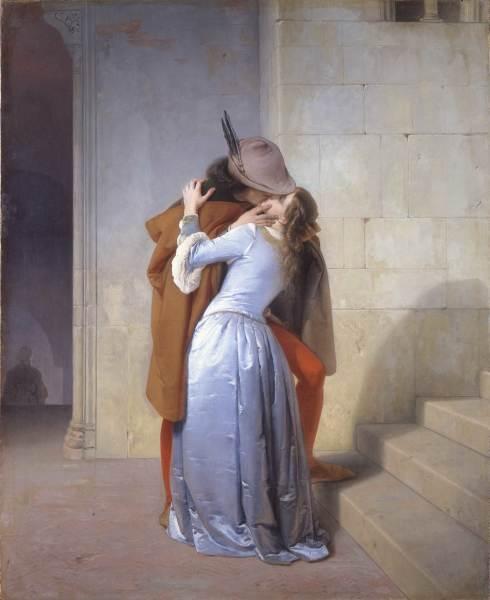 Картина Франческо Айеса «Поцелуй»— визитная карточка пинакотеки Брера