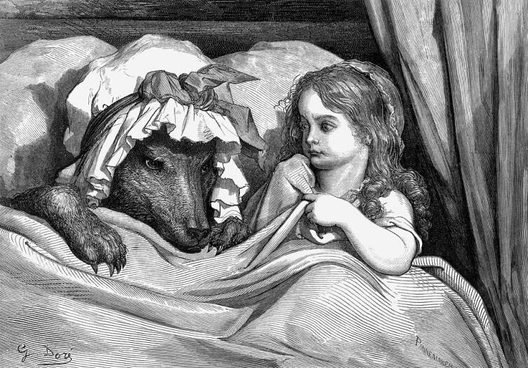 Иллюстрация Гюстава Доре к сказке