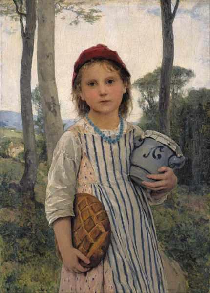 «Красная Шапочка». Картина маслом швейцарского художника Альберта Анкера, 1883 г.