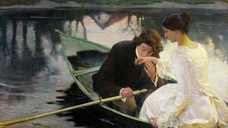 Franz Paul Guillery (German, 1862-1933), «В лодке»