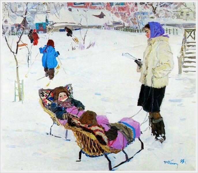 Т. Н. Яблонская, «Близнецы», 1958 г.