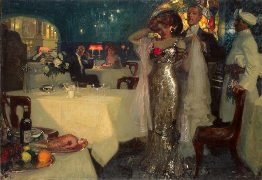 Шарль Хоффбауер, «В ресторане»