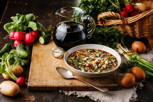 Как приготовить окрошку на воде? Вкусный суп зимой и летом!